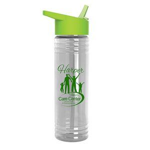 24 oz. Slim Fit Water Sports Bottle - Flip-Straw Lid