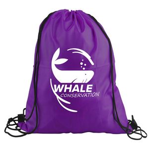 The Junior - 13 x 16 Polyester Drawstring Backpack