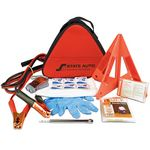 Custom Deluxe Triangle Auto Safety Kit w/ First Aid Kit
