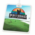 Custom Rectangle Golf Tag W/ Digital Process Imprint