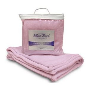 Mink Touch Baby Blanket - Pink