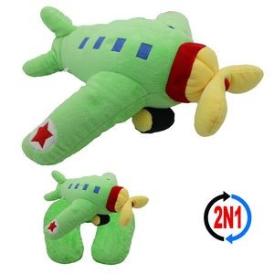 Prop Airplane 2N1, A Plush Toy and Neck Pillow