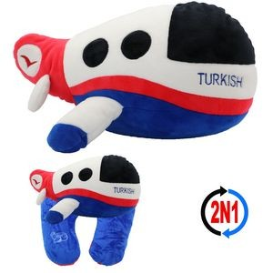 Turkish Airplane 2N1, A Plush Toy Plane and Neck Pillow
