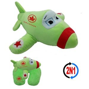Jet Plane 2N1, A Plush Airplane and Neck Pillow