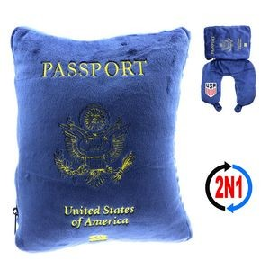 US Passport 2N1, A Detailed Passport Cushion and Neck Pillow