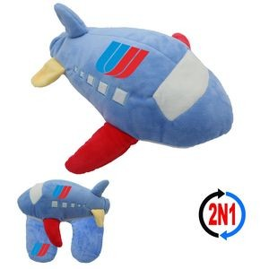 Jumbo Jet 2N1, A Plush Airplane and Neck Pillow
