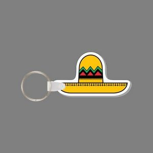 Key Ring & Colorized Tall Sombrero Hat Key Tag