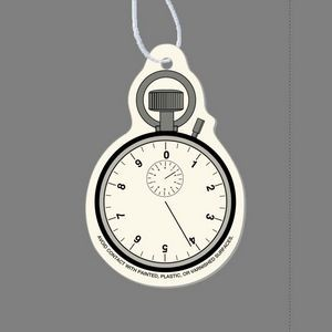 Paper Air Freshener Tag W/ Tab - Stop Watch
