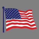 Custom Zippy Clip - Full Color American Flag Decorative Tag W/ Clip Tab