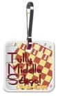 Custom Square - Zippy Clip & Tag
