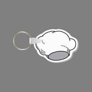 Key Ring & Chef's Hat Key Tag (Wide/Short)