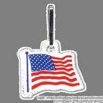 Custom Zippy Clip W/ Full Color American Flag Tag