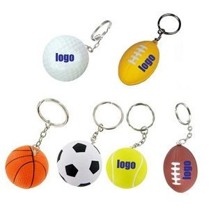 Stress Reliever Ball Key Chains