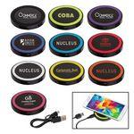 Custom Black Qi Wireless Puck Smartphone Charging Pad