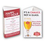 Custom Small 3-Sided 11 Point Glossy Table Tent