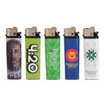 Custom Standard Flint Cigarette Lighter w/ Full Wrap 4 Color Process Printing (CMYK)