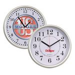Custom Beveled Circular Wall Clock w/4 Color Process Printing (CMYK)