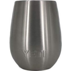 Authentic YETI 10 oz Rambler Wine Tumbler Laser Engraved