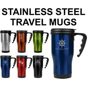 14 Oz. Stainless Steel Laser Engraved Tumbler w/Handle