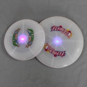 Plastic Round Shape Flying Disc w/Light