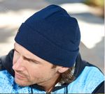 Custom Acrylic Knit Rolled Beanie Hat w/ Cuff
