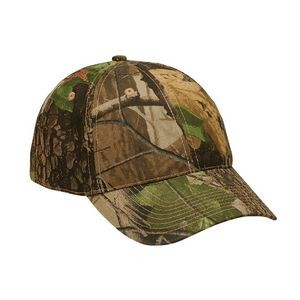Camo Real Tree Hardwoods Green 6 Panel Camouflage Cap