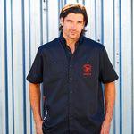 Custom Woven Short Sleeve Work Shirt with softener