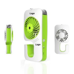 Handheld Humidifier Fan with logo imprint