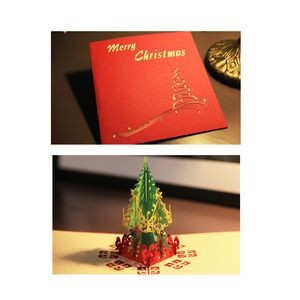 Tree Shaped Stereo Greeting Card