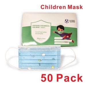 In Stock! Mask for Children, 50 Pack Disposable Face Masks for Kids, CIVILIAN USE ONLY !