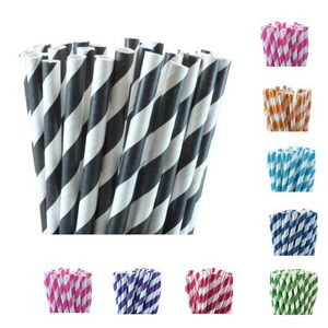 Paper striped Straws