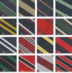 Custom Stock Striped Fashion Polyester Tie - Four in hand