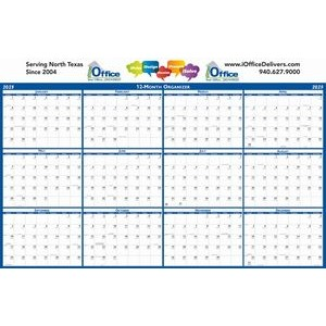"Horizontal Laminated Wall Planner (24"" x 37"")"
