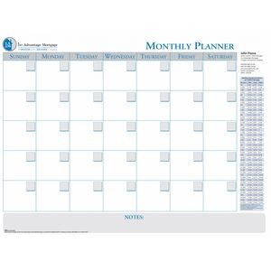 30-Day Laminated Wall Planner