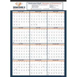 Non-Laminated Wall Calendar w/Tinning on Top