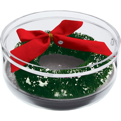Happy Holidays Compartment Coaster Caddy