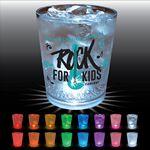 Custom 12 Oz. Plastic Light-Up Rocks Glass