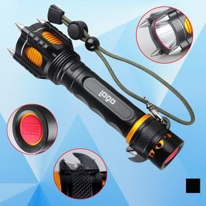 Rechargeable Flashlight w/ Cutter and Hammer