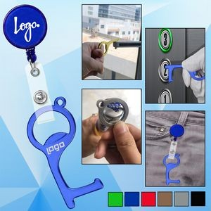 PPE Door and Bottle Opener/Closer No-Touch w/ Badge Reel