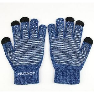 Knitted non-slip touch gloves