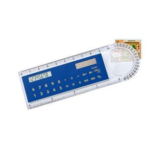"4"" Plastic Ruler with Solar Calculater"
