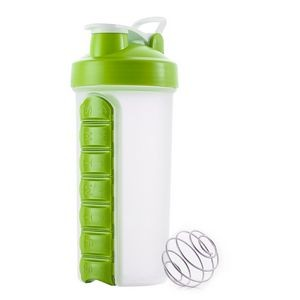 23 Ounce 7 Compartments Pill Box Shake Protein Mixer Cup