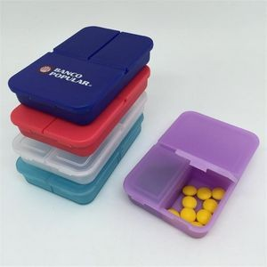 3 Compartments Rectangle Travel Pill Box
