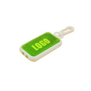 Square LED key ring with chain