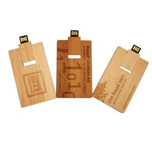 16 GB Wooden Card USB Flash Drive