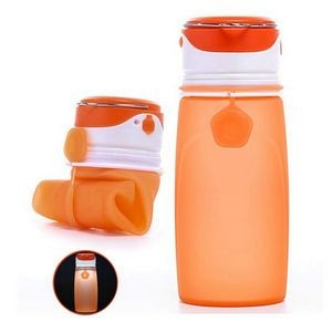 550 ml Collapsible Roll Up Water Bottle With Lighting