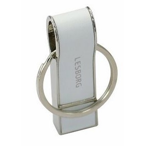 32GB Leather Whistle USB Flash Drive w/Keyring