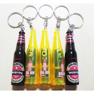 Bottle shape projector keychain with light