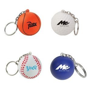 Custom Ball Stress Reliever Keychain