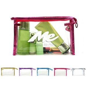PVC Zippered Transparent Cosmetic Bag